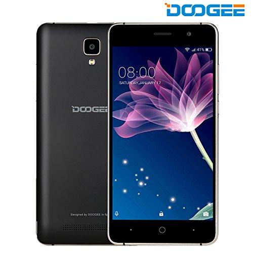 Móviles y Smartphones Libres, DOOGEE X10 Teléfono Móvil Libre y sin Bloqueo de SIM Baratos - 5 Pulgadas con Pantalla HD - Procesador QuadCore MT6570 - 8GB ROM - 2.0MP + Cámara de 5.0MPX - Dual SIM 3G, Bateria con 3360mAh, Bluetooth 4.0 - Negro
