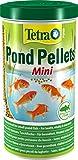 Tetra Pond Pellets Mini (Hauptfutter in Form schwimmfähiger Pellets, für die Ernährung von kleineren Teichfischen), 1 Liter Beutel