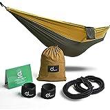 ODOLAND Hamac de Camping Ultra-Léger Respirant Portable en Nylon durable pour 1-2 Personnes Parfait pour Randonnée Voyage Jardin Pédestre plage forêt