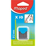 Maped m134210 bleiminen de rechange pour compas, diamètre 2 mm, lot de 10