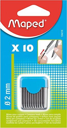 Maped Ersatz-Bleiminen für Zirkel, Durchmesser 2 mm
