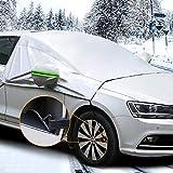 MATCC Frontscheibe Abdeckung Auto Scheibenabdeckung Winterschutz Faltbare Abnehmbare Autoabdeckung Winterabdeckung für die Windschutzscheibe gegen Schnee Frost Staub Sonne(166cm*245cm)