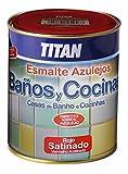 Titan M112275 - Smalto per piastrelle da bagno/cucina da 750 ml, colore: bianco