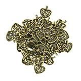 MagiDeal 50 Stück Antik Bronze Tibetanische Herz DIY Charme Schmuck Anhänger...