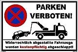 Cartel de aparcamiento 20x 30cm-Señal de prohibido-Placa aluminio ligero de Estable
