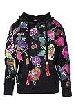 Desigual Sweatshirt Damen Kapuze Sweat Vanity 18WWSK03 XL schwarz