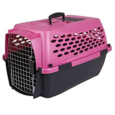 Petmate Vari Kennel II Fashion, 24-inch, Dark Pink/Black from Doskocil