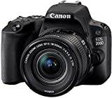Canon EOS 200D (24,2 Megapixel, 7,7 cm Display, APS-C CMOS-Sensor, WLAN, NFC, Full-HD, DIGIC 7) + 18-55mm 1:4,0-5,6 is STM