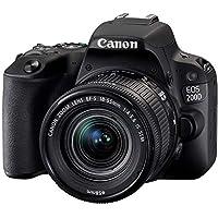 كاميرا كانون اي او اس دي اس ال ار بتقنية اس تي ام، 18 - 55 ملم، 24.2 ميجابكسل، اسود، 200D EF-S