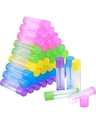 50 Stück Lippenpflege Leere Behälter Klare Rohr mit Verdreht Ende und Ober Kappe, 3/ 16 Unzen ( 5,5 ml)