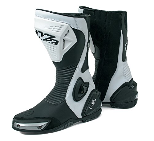 W2 Boots - Stivali da Moto, Bianco/Nero, 45