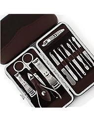 12PCS Trousse Manucure Pédicure Ongle Clipper Cutter Coupe Soins Kits Set Nail