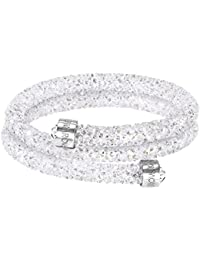 Swarovski Crystaldust Double Bangle, White