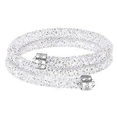 Idea Regalo - Swarovski Bracciale rigido Crystaldust Double, bianco