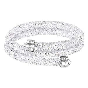 Swarovski Crystaldust Double Bangle, White