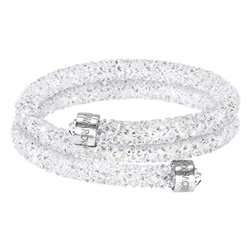 Swarovski bracciale rigido crystaldust double, bianco