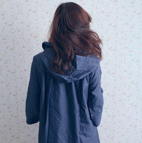 Dopobo Neu Damen Regenjacke Regen Jacke Raincoat Fast Dry reizende lange dünne Mädchen Frauen Nette (vielen wählen) K Blau