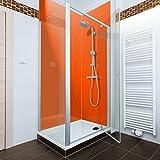 Orange farbige Acryl Dusche Panel. Einzigartige Hard Gloss Coated lang Life Finish. Einfach zu reinigen. 2440mm x alle Duschtasse breiten, acryl, Orange, 800mm X 2440mm