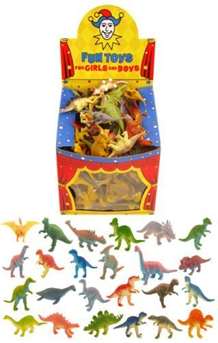 Image of 12 Mini Dinosaur Toys / Gift Favours / Childrens Kids Party Bag Fillers