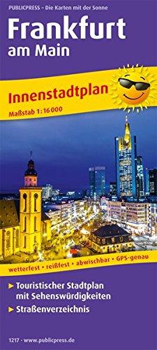 Frankfurt am Main: Touristischer Innenstadtplan mit Sehenswürdigkeiten und Straßenverzeichnis. 1:16000 (Stadtplan / SP)