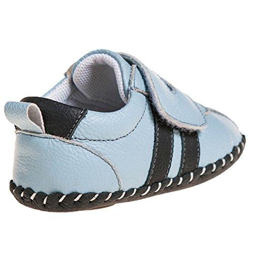 Little Blue Lamb Babyschuhe Lauflernschuhe Sneaker , Größe: 6-12 Monate, Farbe: blau hellblau