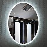 Mirror Spiegel - intelligenter LED-Badspiegel, runder Schminkspiegel zur Wandmontage, Lichtspiegel mit Touch-Schalter