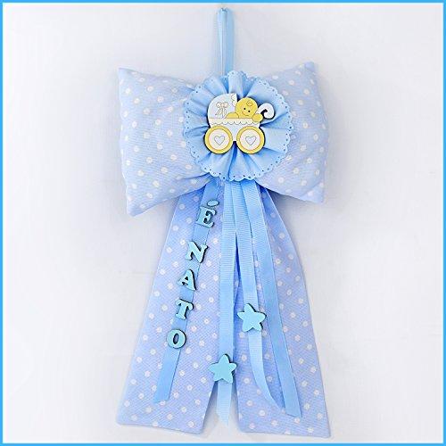Albalù italia fiocco nascita bimbo azzurro e' nato modello d - carrozzina - scatola inclusa + spedizione gratuita