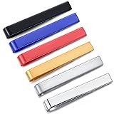 HONEY BEAR 3/6 Stück 4cm Herren Kinder Krawattennadel Set Krawattenklammer für schmale Krawatten Edelstahl Tie Clip (6 Stück für schmale Krawatten ohne Box)