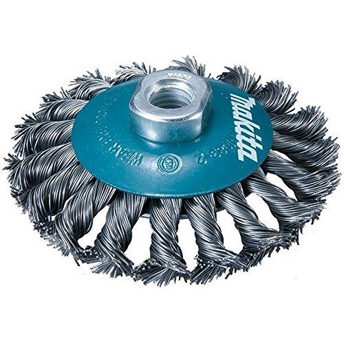 100 mm Cepillo c/ónico de acero trenzado Silverline 633510
