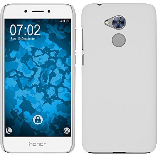 PhoneNatic Case kompatibel mit Huawei Honor 6a - Hülle weiß gummiert Hard-case Cover