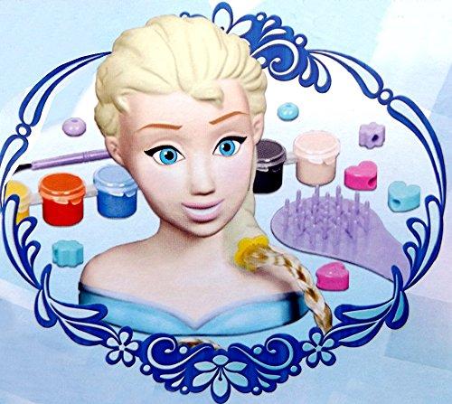 Brigamo 17908 - Eiskönigin Elsa Frisierkopf Frozen Styling Kopf mit umfangreichem Zubehör thumbnail