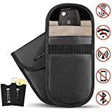 2 X Car Key Signal Blocker Cases | 2 x RFID Blocking Sleeves | Faraday Bag for Blocking Keyless Entry | Credit Card Protector | Keyless Remotes Control Entry Fob Guard Signal Blocking Pouch Bag