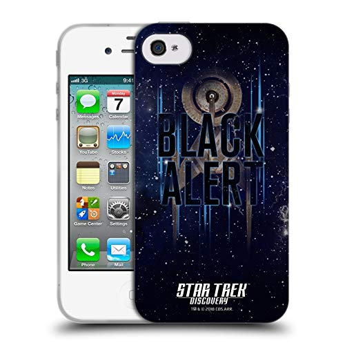 Head Case Designs Offizielle Star Trek Discovery Black Alert U.S.S Discovery NCC - 1031 Soft Gel Huelle kompatibel mit iPhone 4 / iPhone 4S