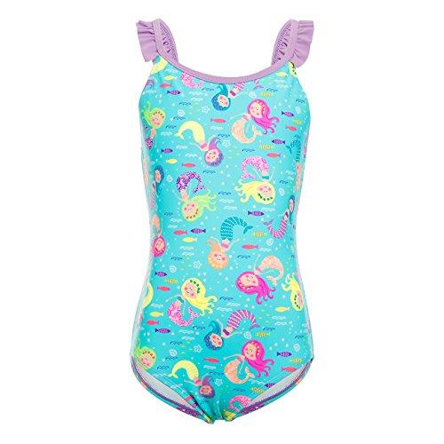 DAYU Mädchen Badeanzug Einteiler Meerjungfrau Süß Badeanzug Bademode Kinder Beachwear -Meerjungfrau-M