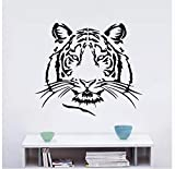 Üppige Kunst Tiger Wandkunst Aufkleber Wandaufkleber Pvc Material Für Kinderzimmer Home Party Decor Tapete 58X66 Cm