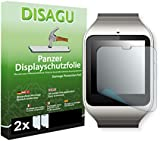 2 x DISAGU Armor screen protector for Sony SmartWatch 3 screen fracture protection film (intentionally smaller than the display due to its curved surface)