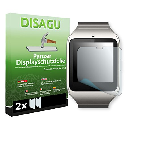 2 x DISAGU Armor screen protector for Sony SmartWatch 3 screen fracture...