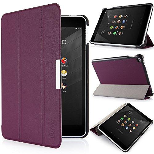 iHarbort® Nokia N1 Hülle - Ultraleicht Slim Smart-Cover Inhaber stehen Leder Tasche Case Etui Sleeve für Nokia N1 7,9 Zoll (Nokia N1, Lila)