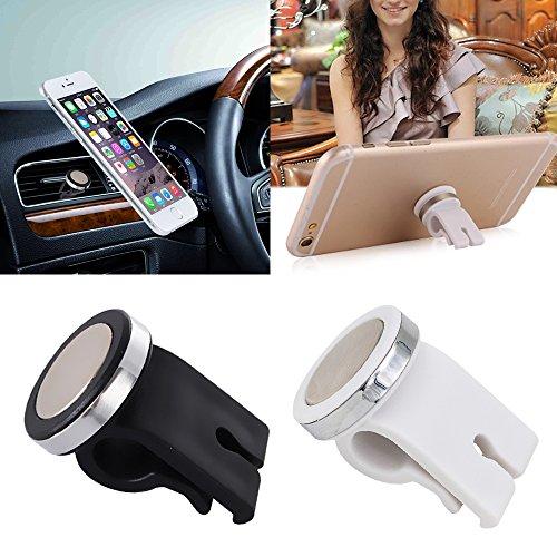 Brussels08 Universal Smartphone Kfz Auto Air Vent Mount Halter Magnet Handy Ständer für iPhone X/iPhone 8/7/7Plus/6S/6Plus 5S SE, Samsung Galaxy S7/S6Edge/S6/S8und Mehr, Weiß, M - Auto Iphone 5s Mount Vent Air