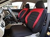 Sitzbezüge k-maniac | Universal schwarz-rot | Autositzbezüge Set Vordersitze | Autozubehör Innenraum | Auto Zubehör für Frauen und Männer | V933388 | Kfz Tuning | Sitzbezug | Sitzschoner