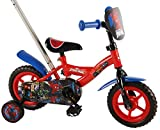Spiderman Volare41054 Boys Bicycle with Push Rod, Red