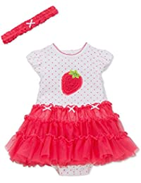 Little Me Tutu Popover Dress with Headband for Baby Girls (9 Months