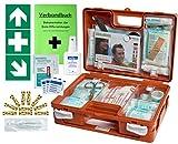 Erste-Hilfe-Koffer KITA M1 -Paket 1- nach DIN/EN 13157 für Betriebe + DIN/EN 13164 für KFZ incl. 1.Hilfe Aufkleber & Hygiene-Ausstattung