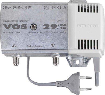 Kathrein VOS 29/RA-1G Hausanschluss-Verstärker (30dB, 85-1006 MHz, integrierter Rückweg 5-65 MHz aktiv, für Kabelfernsehen)