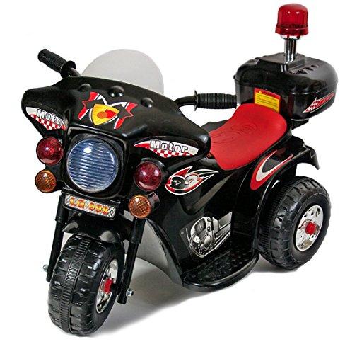 Polizei Kindermotorrad Elektro mit Akku Kinderfahrzeug Kinder Auto Spielzeug