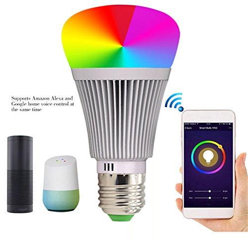 Molie Smart Lampe 7W RGB Glühbirne Led Wifi Lampen Dimmbar E27 Wlan Lampe mit Amazon Alexa,Google Home,Steuerbar via App - 6