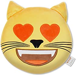 Emoji - Cojín Bordado Gato Corazón Oficial (PIW_HEART_EYES_CAT_EB)