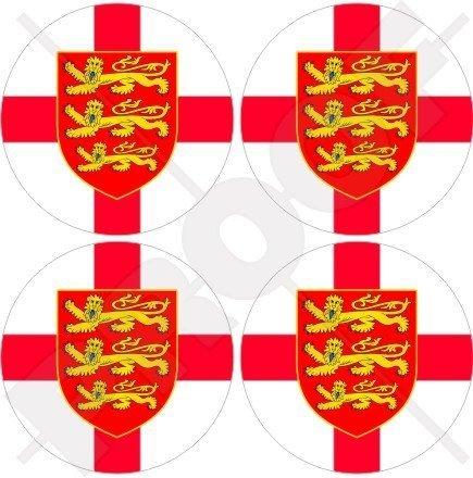 ENGLAND Englisch 3 Löwen Großbritannien UK 50mm Auto & Motorrad Aufkleber, x4 Vinyl Stickers (Löwen Auto Aufkleber)