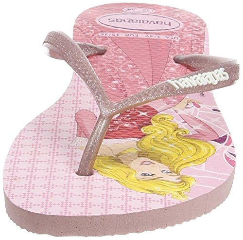 Havaianas Slim Princess, Tongs Fille Multicolore (Pearl Pink 6615)