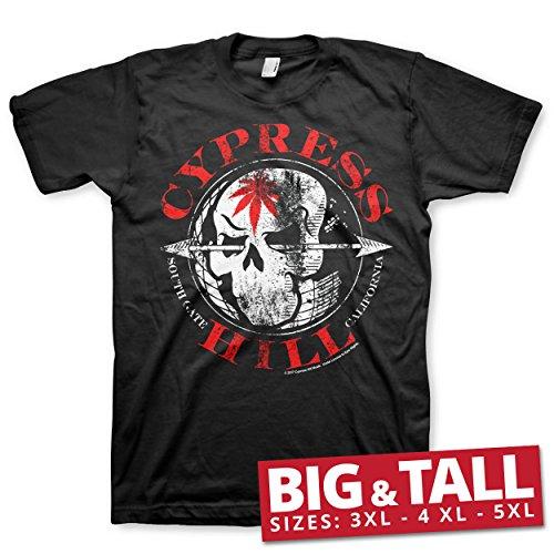 Cypress Hill Offizielles Lizenzprodukt South Gate - California Big & Tall 3XL,4XL,5XL Herren T-Shirt (Schwarz), 3X-Large (Herren Cypress Shirt)
